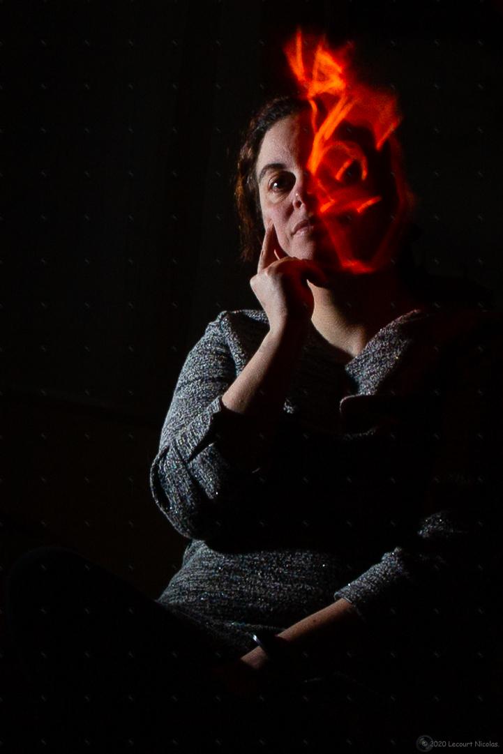 Photo «Double Face» – Portrait – Light Painting