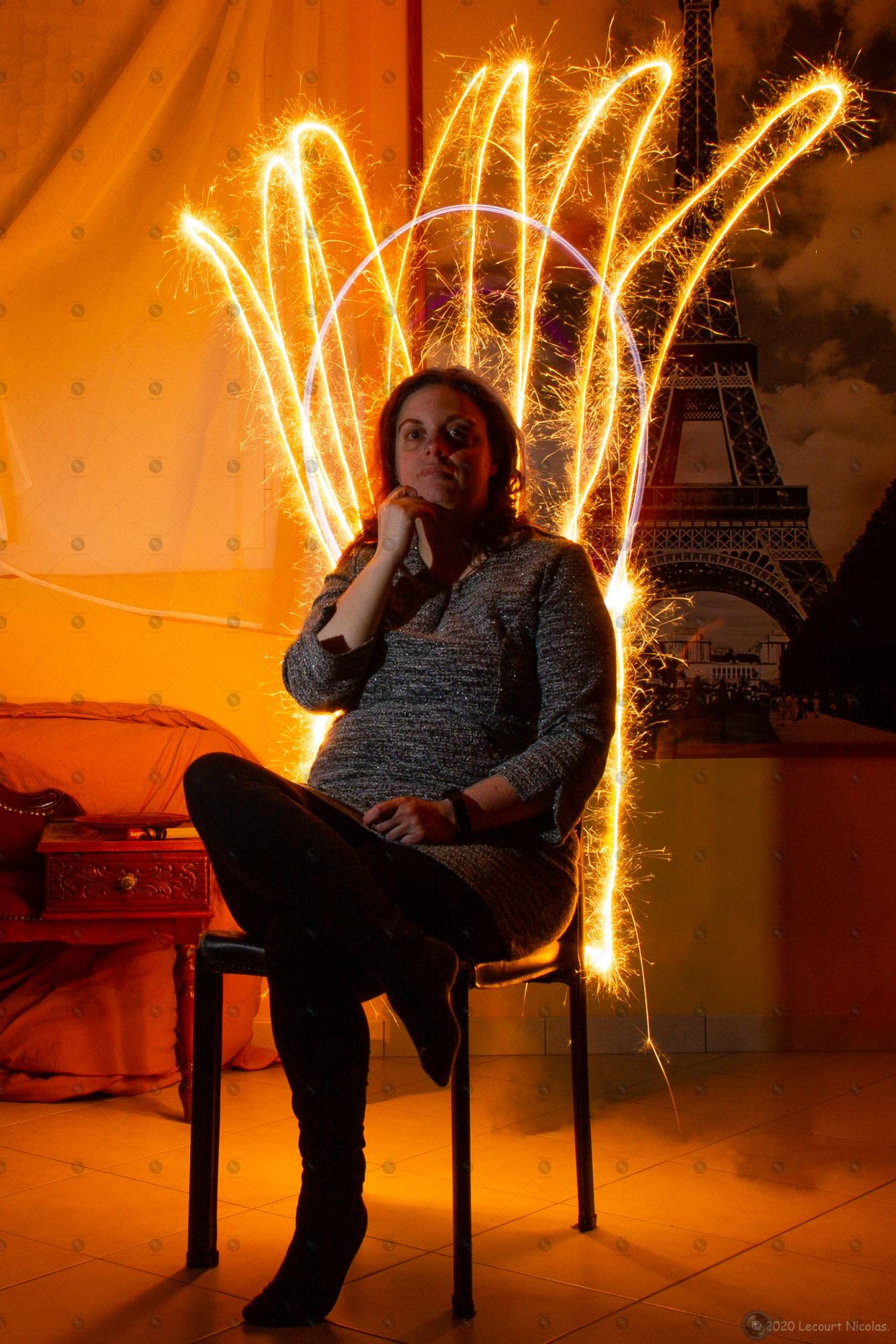 Photo «Le trône de Feu» – Portrait – Light Painting