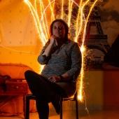 Le trône de feu - Portrait - Light Painting